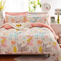 三件套四件套纯棉床单被套全棉被子学生宿舍单人双人床上用品