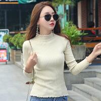 秋冬新款黑色内搭修身半高领毛衣韩版女士针织长袖紧身打底衫