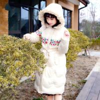女童冬装外套棉衣2018新款童装韩版中大童加厚棉袄女孩中长款
