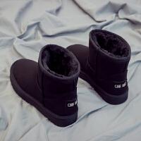 套筒雪地靴女学生韩版百搭冬季女鞋潮短筒加绒棉鞋