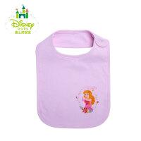 迪士尼Disney婴儿围嘴口水巾纯棉宝宝四季素色围兜153P675