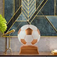家居足球摆件创意儿童房间装饰摆设树脂工艺品