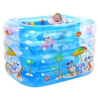 婴儿游泳池充气保温婴幼儿童宝宝游泳桶家用洗澡桶新生儿浴盆 抖音 115cm新款粉 豪华套餐