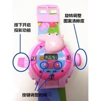 抖音小猪佩琪儿童卡通投影手表投图案光玩具3D手表佩奇社会人 立体小猪投影表 (粉色现货)