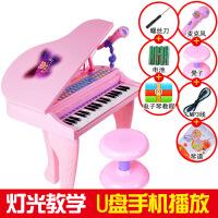 ?儿童电子琴带麦克风1-3-6岁5女孩女童宝宝初学者小钢琴玩具