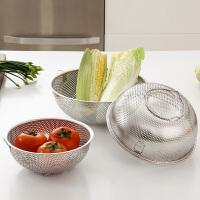 【满减】欧润哲 不锈钢厚身多用途沥水篮组 沥水架洗菜盆厨房洗菜篮漏水篮
