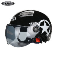 摩托车头盔电动车安全帽夏季防晒男女轻便式半盔防紫外线夏盔 均码