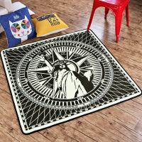 欧美潮款地毯地垫卧室满铺客厅茶几防滑垫脚垫 自由女神