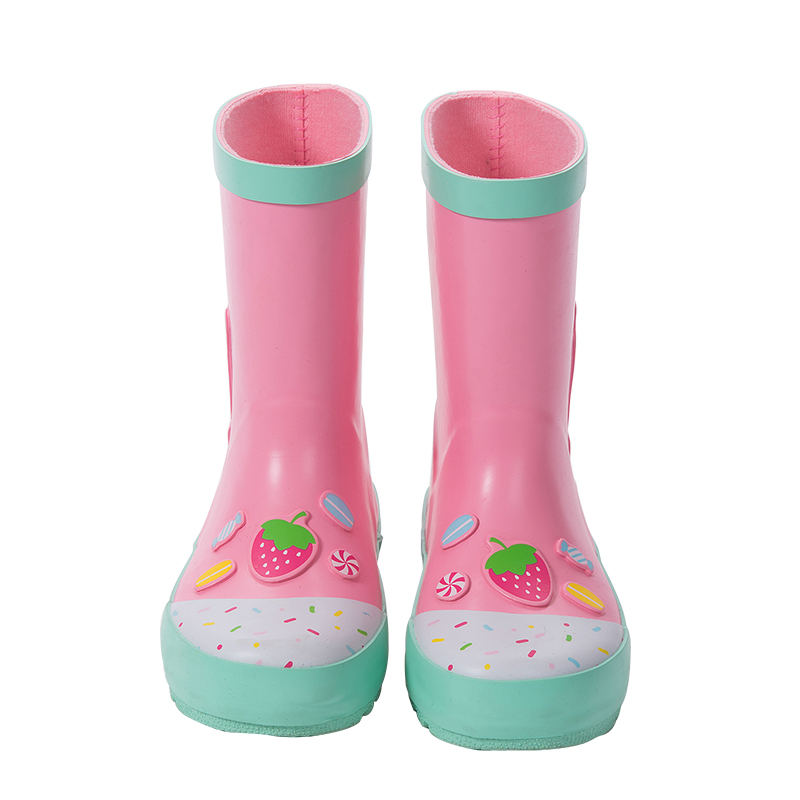 儿童防滑雨靴女可爱公主中大童雨衣雨鞋套装幼儿园小孩水鞋