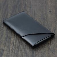 红米Note7 pro手机套壳 保护套小米note7直插皮套 全包防摔 双层 裸机版 黑色