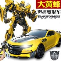 孩之宝变形金刚5儿童感应充电遥控汽车男孩大黄蜂机器人3-6岁玩具
