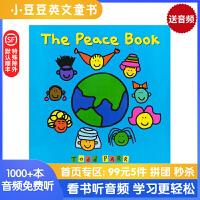 英文原版绘本 The Peace Book 和平之书 纽约时报畅销书作家Todd Parr托德帕尔作品 儿童情商情绪管