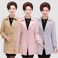 中老年人女装春装外套40-50-60岁妈妈装中年春秋装中长款风衣薄款