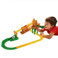 托马斯合金小火车轨道吊车套装拼装大号轨道玩具雾雾岛惊险滑索道 抖音