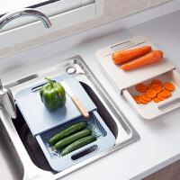 水槽沥水切菜板塑料砧板小案板 家用水果板厨房加厚菜板切板粘板