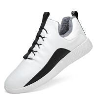 男鞋休闲男士皮鞋英伦板鞋潮加绒运动鞋