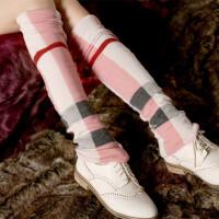 加长过膝袜套女 韩国堆堆袜 长筒袜子腿套 靴套脚套 秋冬保暖SN539qg, D82加长 粉色 均码