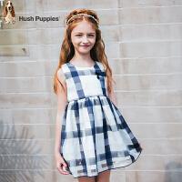 【3件3折:149.7元】暇步士童装夏季新款女童连衣裙时尚甜美格子连衣裙公主裙儿童连衣裙
