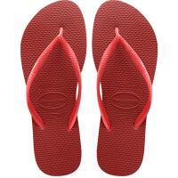 havaianas女款时尚细带人字拖Slim平底防滑哈瓦那拖鞋Slim红色1440