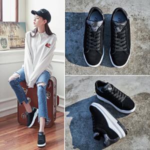 ZHR2018秋季新款内增高单鞋平底板鞋韩版板鞋真皮女鞋学生鞋子潮