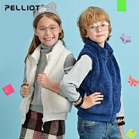 【保暖节-狂欢继续】法国伯希和儿童抓绒马甲 男女童无袖抓绒背心保暖开衫外套坎肩