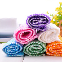 5条装加厚竹纤维洗碗布 吸水 厨房抹布毛巾 随机颜色5条装