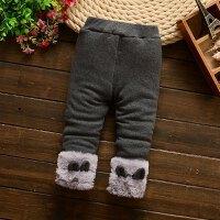 秋冬季款女童加厚加绒打底裤0-1-2-3岁女宝宝靴裤韩版儿童棉裤子