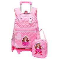 小学生拉杆书包1-3-5-6年级男女生儿童2轮/三轮可拆卸手拉式书包