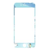 iphone6钢化膜苹果6plus手机7P卡通全屏覆盖七可爱全包边防摔
