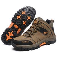 户外高帮登山鞋 舒适耐穿男士加绒休闲鞋