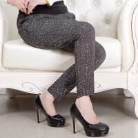 中老年花色打底裤中年妇女裤子40-50岁妈妈装春秋款修身弹力长裤