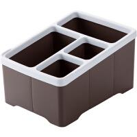 分格桌面杂物遥控器收纳盒办公室桌上文具塑料收纳整理盒