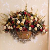 欧式墙壁挂花瓶门挂饰壁饰家居挂墙上装饰品客厅创意复古墙面挂件