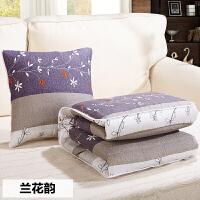 抱枕被子两用办公室午休折叠靠垫被汽车沙发靠枕卡通腰靠枕头被蓝色格调时代中号普通版1001501