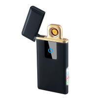 充电打火机防风 金属纤薄感应充电打火机 USB点烟器