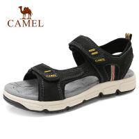 camel 骆驼男凉鞋2018夏季新款凉鞋男沙滩鞋户外凉鞋轻盈牛皮鞋子
