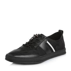 Teenmix/天美意2018春专柜同款织物/牛皮平跟男休闲鞋2GG01AM8