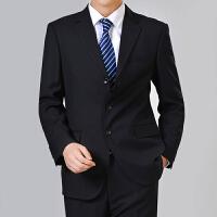 秋冬新款中年男士休闲西服外套中老年爸爸装商务件便西装男上衣