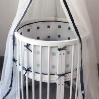 婴儿圆椭圆床围防撞儿童床上用品套件夏透气床帏可拆洗 三明治床帏 其它