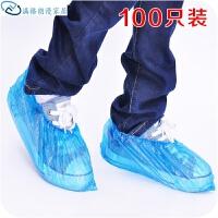 家用室内一次性鞋套100只装 塑料加厚男女儿童雨天防水防雨鞋套