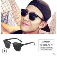 墨镜男士潮人新款韩版开车驾驶司机偏光太阳眼镜复古近视眼睛