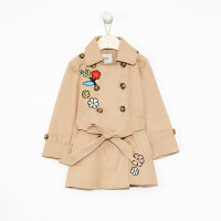 【1件3折到手价:119.7】moomoo童装女童风衣中长款新款春装洋气中大儿童外套棉