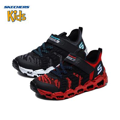 斯凯奇童鞋 (SKECHERS)男童魔术贴运动鞋 儿童运动鞋 舒适休闲鞋(4岁—12岁)斯凯奇秋季新款