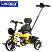 新款乐卡儿童三轮车脚踏车1-2-3-5周岁男女宝宝自行车小孩手推车