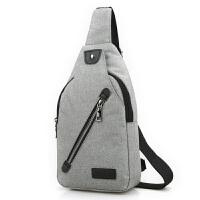 休闲新款挎包男士商务单肩包胸前包帆布斜跨包户外骑行包旅行背包