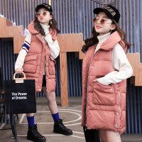 女童冬装外套2018新款大儿童装棉马甲背心加厚女孩秋冬季坎肩洋气