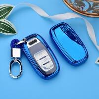 适用于奥迪钥匙包A4L A6L A8 A5 Q5 A7S6/S5保护套壳扣按键全包女