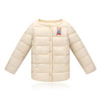 冬装宝宝超轻薄外套男童女童儿童羽绒棉内胆中小童