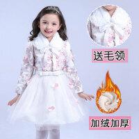 女童秋冬新年装幼儿合唱舞蹈服装儿童演出服公主裙表演礼服加绒