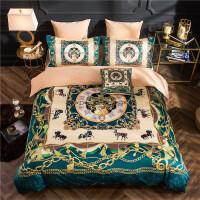 欧式宫廷风法兰绒四件套 水晶绒床单被套1.8/2.0m床品套件